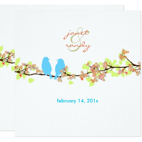 PixDezines LOVE BIRDS/BLUE/DIY BACKGROUND Card