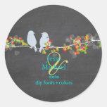 PixDezines Love Birds Round Sticker