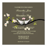 PixDezines Love Birds/White Doves 13 Cm X 13 Cm Square Invitation Card