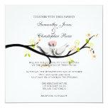 PixDezines love doves/diy background colour 13 Cm X 13 Cm Square Invitation Card