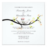 PixDezines love doves/diy background colour 13 Cm X 13 Cm Square Invitation Card
