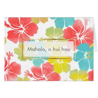 PixDezines mahalo, o hui hou/hibiscus Card