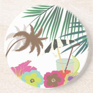 PixDezines Mai Tai/zebra umbrella Drink Coaster