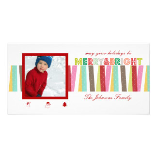 PixDezines malibu stripes pattern, christmas Photo Cards
