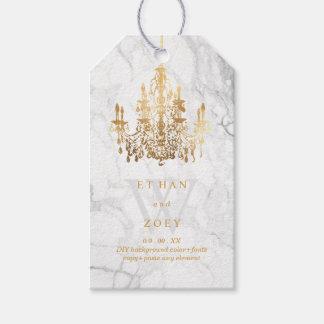 PixDezines Marble/Crystal Chandelier Faux Gold
