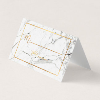 PixDezines Marble+Faux Gold Placecards Place Card