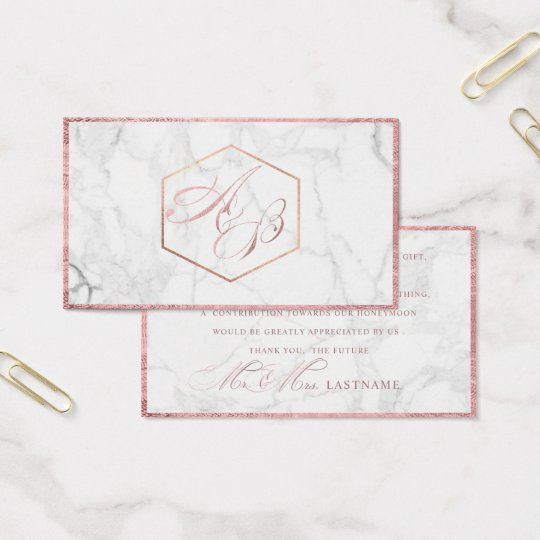 PixDezines Marble+Faux Rose Gold Script /Gift Business Card