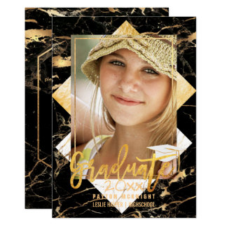 PixDezines Marble Graduation/ Faux Gold Card
