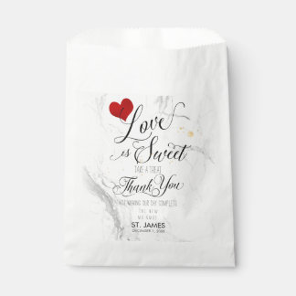 PixDezines MARBLE LOVE IS SWEET+HEART Favour Bags