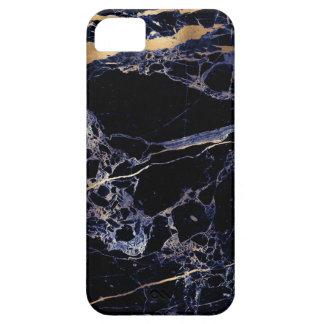 PixDezines Marble, Midnight Blue + Gold Veins iPhone 5 Case
