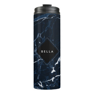 PixDezines MIDNIGHT BLUE MARBLE Thermal Tumbler