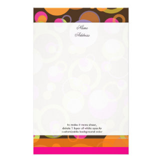 PixDezines Mod Bubbles, custom background color!! Personalized Stationery