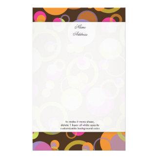 PixDezines Mod Bubbles custom background color Stationery Paper
