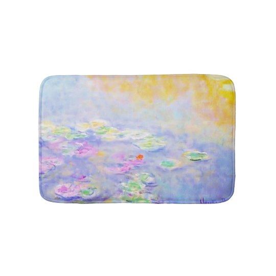 PixDezines monet lily pond at giverny Bath Mats