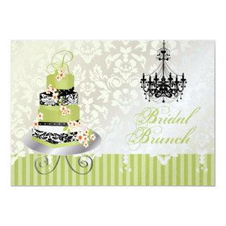 PixDezines monogram bridal cake/matcha green 13 Cm X 18 Cm Invitation Card