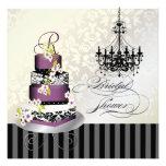PixDezines monogram bridal, plum pudding cake Personalised Announcement