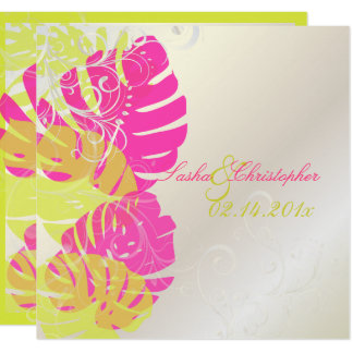 PixDezines Monstera, Tropical Foliage + Swirls Card