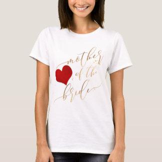 PixDezines Mother of Bride/Faux Gold Script T-Shirt