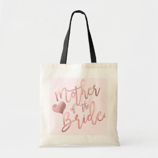 PixDezines Mother of Bride/Faux Rose Gold Script Tote Bag