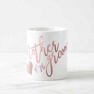 PixDezines Mother of Groom/Faux Rose Gold Script Coffee Mug