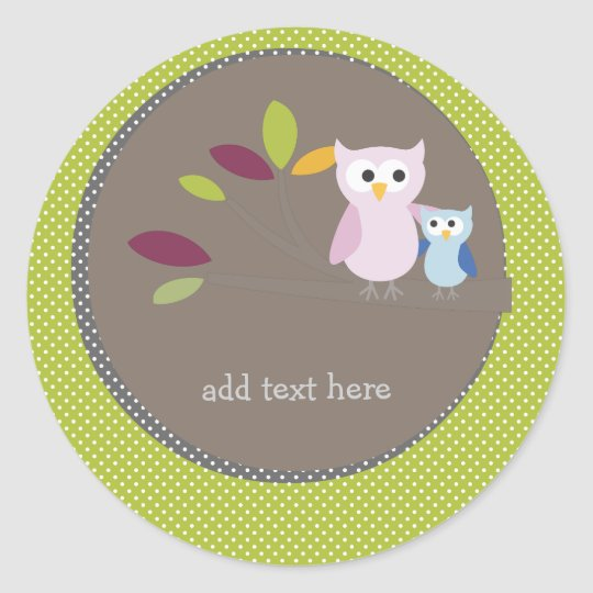 PixDezines Mummy+baby for a baby shower Classic Round Sticker