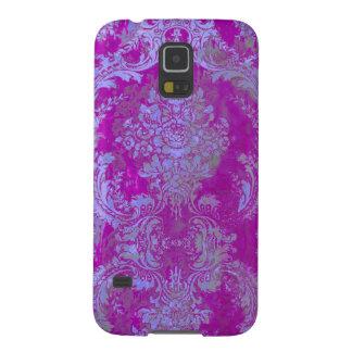 PixDezines natasha damask/purple Galaxy S5 Cases