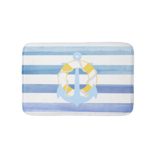 PixDezines nautical/anchor/watercolor affects Bath Mat
