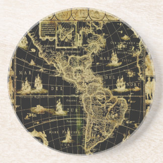 PixDezines Nautical/ vintage world map Coaster
