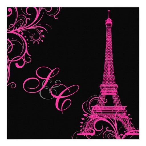 PixDezines la tour eiffel/paris 13 Cm X 13 Cm Square ...