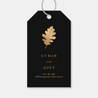 PixDezines Oak Leaves/Faux Gold/DIY Background Gift Tags