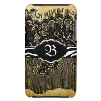 PixDezines Old Lace+zebra iPod Touch Covers