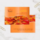 PixDezines orange calla lily Business Card