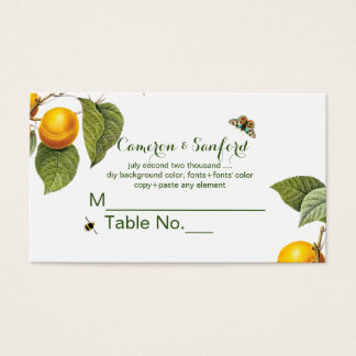 PixDezines Orchard/Peaches/Redoute/place card