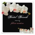 PixDezines orchids/bridal brunch/diy background 13 Cm X 13 Cm Square Invitation Card