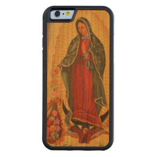 PixDezines Our Lady of Guadalupe Carved Cherry iPhone 6 Bumper Case
