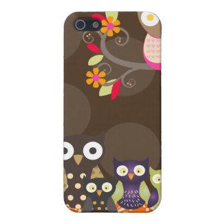 PixDezines Owl/pink+orange/DIY background color iPhone 5 Cases