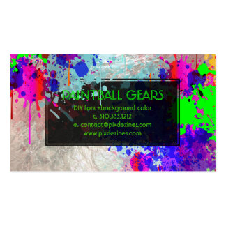 PixDezines paint splatters/ball/faux silver Pack Of Standard Business Cards
