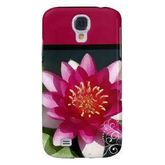PixDezines painted water lily Galaxy S4 Cases