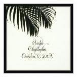 PixDezines Palm Fronds, Beach Wedding/diy colour Personalised Announcements