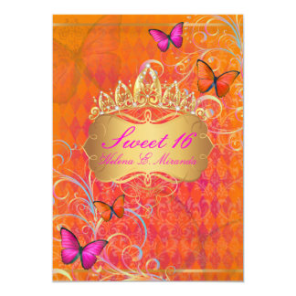 PixDezines Papillon Sweet 16/Rainbow Swirls Card