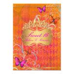 PixDezines Papillon Sweet 16/Rainbow Swirls 5x7 Paper Invitation Card