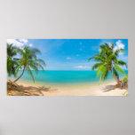 PixDezines Paradise/Panoramic View Tropical Island Poster
