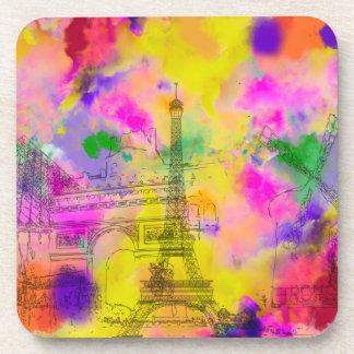 PixDezines paris color run/faux foil Coaster