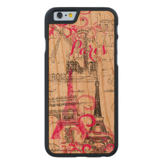 PixDezines paris sketched/DIY background color Carved® Cherry iPhone 6 Case