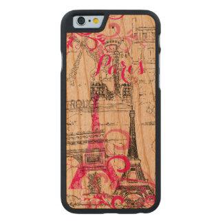 PixDezines paris sketched/DIY background color Carved® Cherry iPhone 6 Case