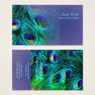 PixDezines peacock feather/psychedelic Business Card