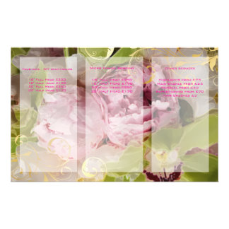 PixDezines Peonies/Green Cymbidium Bouquets 14 Cm X 21.5 Cm Flyer