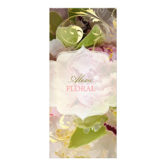 PixDezines Peonies/Green Cymbidium Bouquets Rack Card
