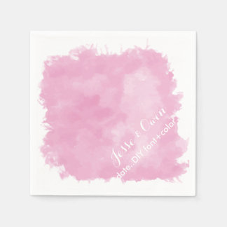 PixDezines pink digital watercolor Paper Napkin