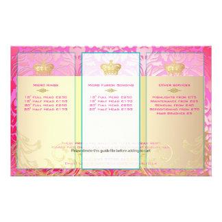 PixDezines pink flora damask 14 Cm X 21.5 Cm Flyer